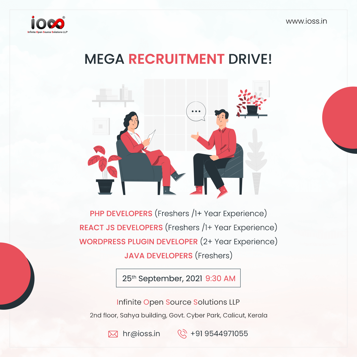 mega recruitment drive ioss